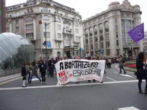 Manifestación contra la ley del aborto 2013. Bilbao.
