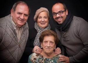 Con Marieli y Jesús (Cáritas) en el homenaje a Sebastiana por sus 100 años Foto: Luis Salgado