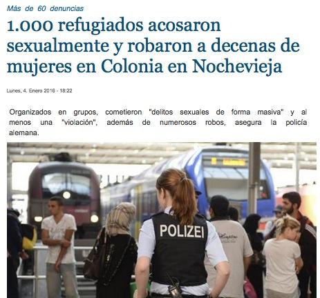 1000refugiados acosan