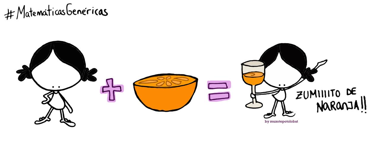 Yo+una media naranja=al riiico txupito de zumito de naranja y ¡¡brindo por tí!! #MatemáticasGenéricas