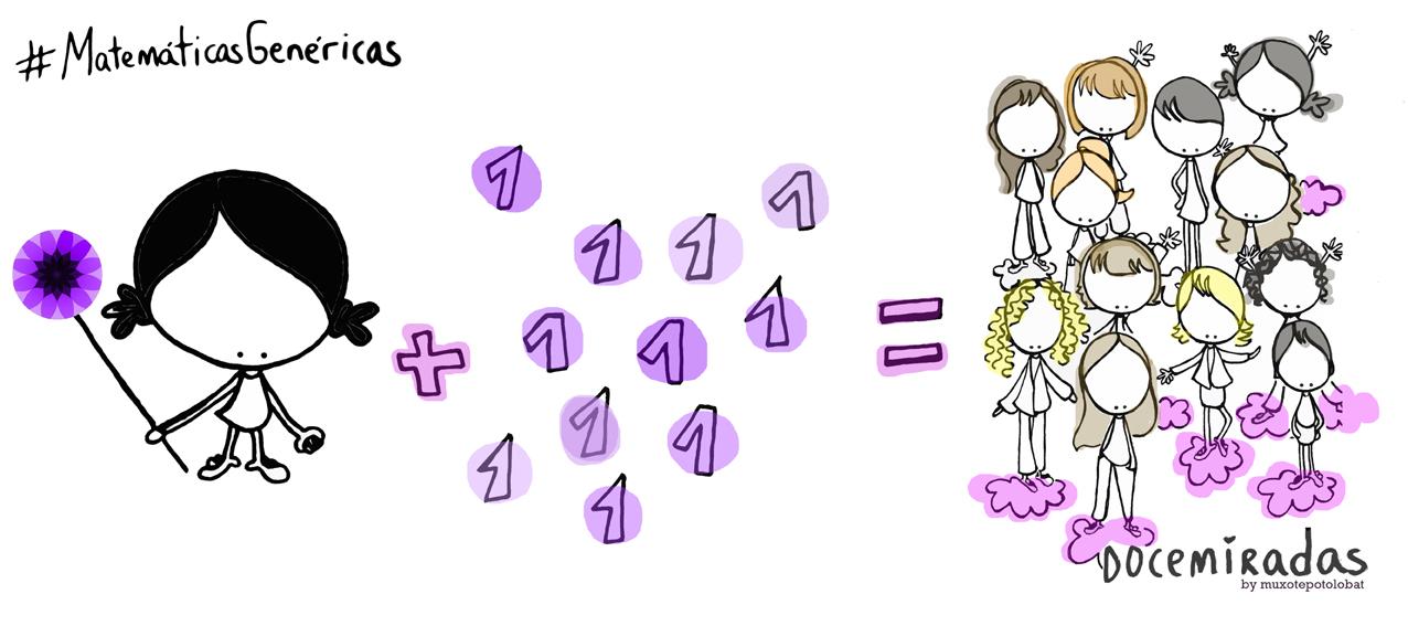 1+1+1+1+1+1+1+1+1+1+1+1=Docemiradas #MatemáticasGenéricas #nivelóndecompis