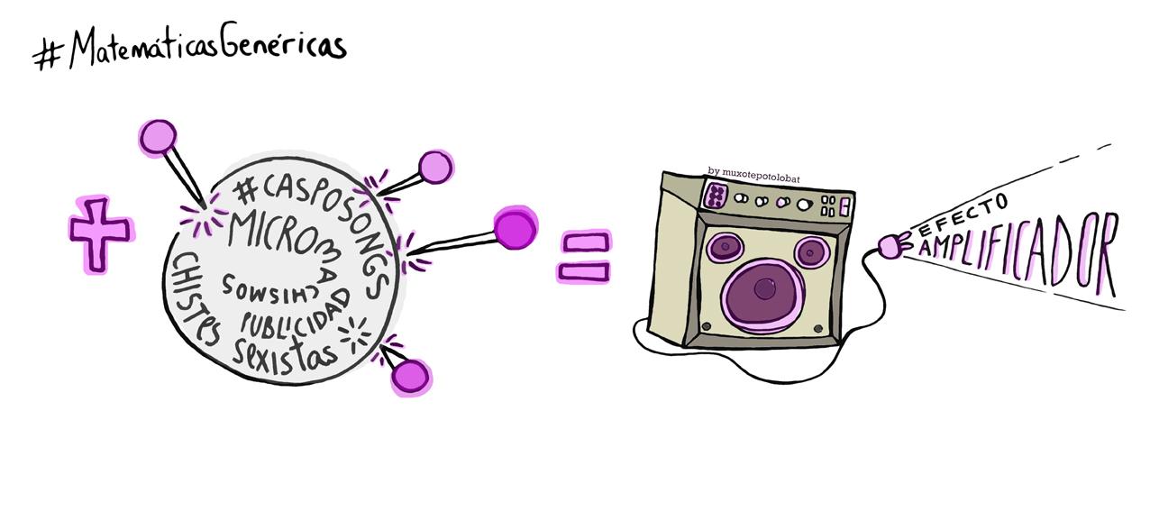 Si nos sumamos a pinchar las burbujas de las canciones denigrantes (#casposongs),la publicidad sexistas, los micromachismos omnipresentes, los chistes sexistas=amplificaremos un espacio oxigenado libre de estereotipos tóxicos, sorderas crónicas y una cultura tremendamente patriarcal. #MatemáticasGenéricas