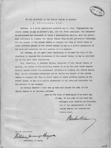 President_Woodrow_Wilson's_Mother's_Day_Proclamation_of_May_9,_1914_(Presidential_Proclamation_1268)._-_NARA_-_299965