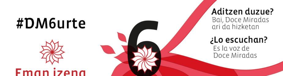 ¿Lo escuchan? Es el 6º aniversario de Doce Miradas. Save the date!